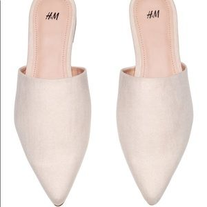 H&M flat mules 8.5, worn once!